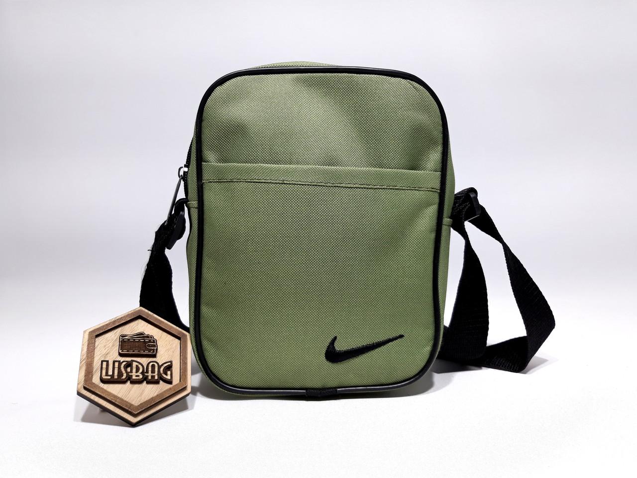 b6d3fcf8b922 ... Мужская сумка планшетка/мессенджер через плечо Nike копия, Оливковая,  фото 4 ...