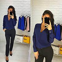 Женская стильная блузка  цвет Темно - Синий