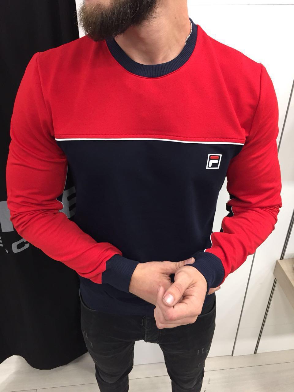 Мужская кофта свитшот Fila топ реплика