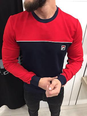 Мужская кофта свитшот Fila топ реплика, фото 2