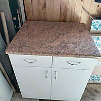 Тумбочка кухонная с ящиками 70 см белая