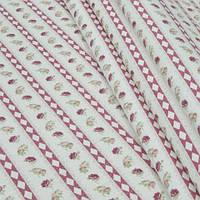 Декоративная ткань для штор, геометрия, розы розовый