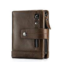 Кошелек портмоне мужской кожаный  (коричневый), фото 1