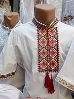 Чоловіча вишита сорочка на льоні з коротким рукавом