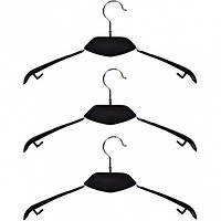 Вешалка - плечики, дерево Черное металл силикон 40см