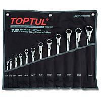 Набор накидных ключей 6-32мм (угол 45°)  12ед.  TOPTUL GAAA1202