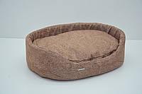 Лежак для собак и котов Мрия коричневый