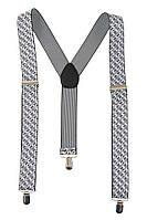 Подтяжки мужские разнообразие оттенков AG-0006605 Бело-серый