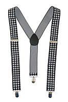 Подтяжки мужские разнообразие оттенков AG-0006605 Бело-черный