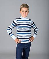 Свитер Many&Many для мальчика, серо-синий, Полоса.