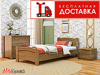 Кровать Венеция 190*120 бук Эстелла (ЩИТ), фото 1