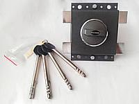 Замок накладной Gerda Tytan ZX GT7 графит длинный ключ (Польша)