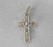 Серебряный крестик (П 02)