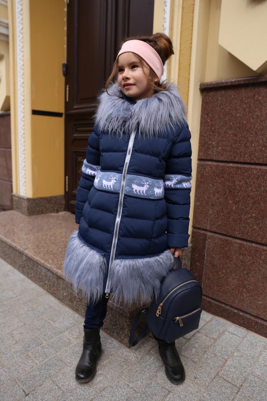 b6a9c6ad4b9 Купить Пальто зимнее детское для девочки. Пуховик с мехом ламы по ...