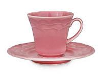 """Кофейный набор Lefard """"Атена"""" темно-розовый 2 предмета, 942-024"""