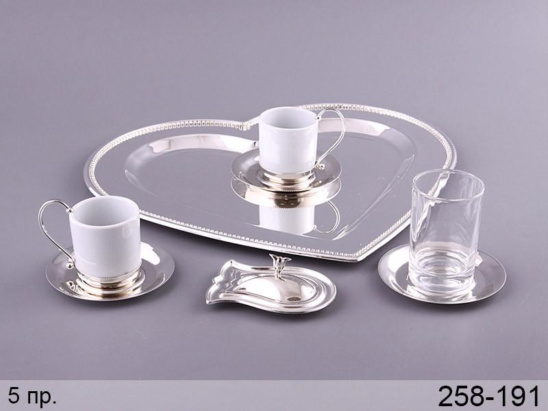 Кофейный набор Lefard Сердце на подставке  5 предметов , 258-191