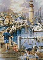 "Схема для вышивания ""Рыбалка у маяка"""