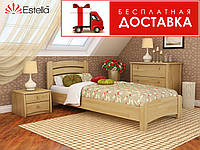 Ліжко Венеція Люкс 190*80 бук Естелла (ЩИТ), фото 1