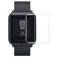 Защитная пленка для экрана смарт часов Amazfit Bip, комплект - 2 протектора.