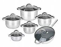 Набор посуды 12шт + гранитное покрытие сковороды, фото 1