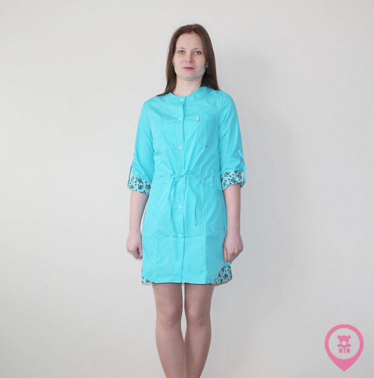 Медицинский женский халат SM 9140-7 Angela ХБ