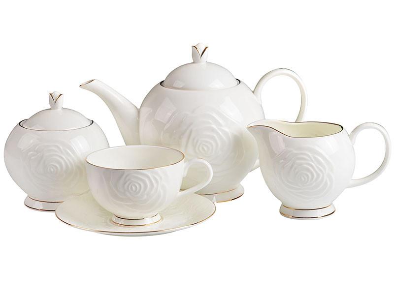 """Чайный набор """"Бланко"""" 15 предметов 200 мл, Lefard, 264-306"""