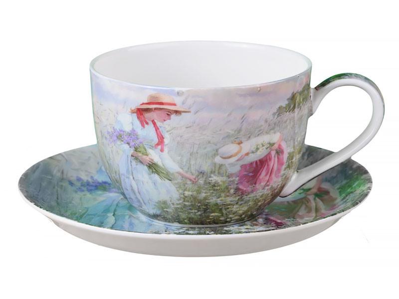 """Чайный набор 2 предмета """"Полевые цветы"""" 280 мл, Lefard, 924-228"""