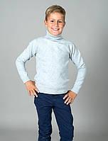Свитер Many&Many для мальчика, светло-серый, Зигзаг.