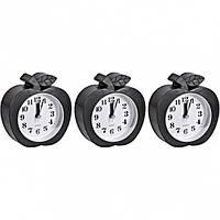 """От 2 шт. Настольные часы - будильник НА-666 """"Яблоко черное"""" 10*11*4см купить оптом в интернет магазине От 2"""