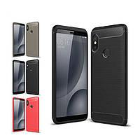 Защитный чехол Slim с карбоновыми вставками для Huawei P smart Plus (выбор цвета)