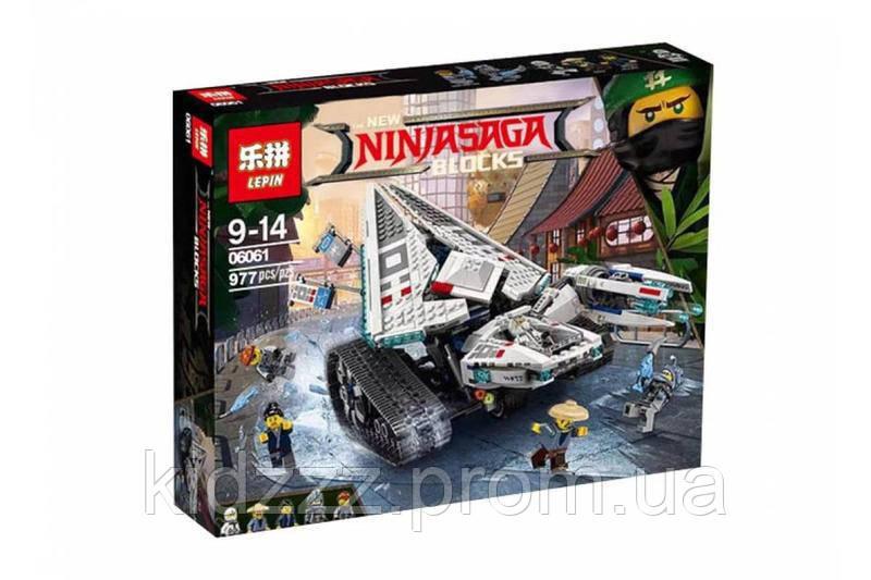 "Конструктор Ninjago Movie Lepin 06061 (аналог Lego 70616) ""Ледяной Танк"" 977 деталей"