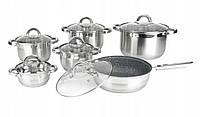 Набор посуды 12шт + гранитное покрытие сковороды