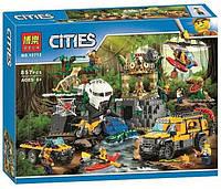 """Конструктор Bela 10712 """"База исследователей джунглей"""" (аналог Lego City 60161), 857 деталей"""
