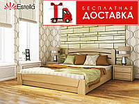 Кровать Селена Аури 190*120 бук Эстелла (ЩИТ) с механизмом, фото 1