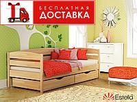 Ліжко дитяче 80*190 Нота Плюс бук Естелла (ЩИТ) без ящиків, фото 1