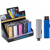 От 2 шт. Электронная зажигалка USB 8*2,3*1,2см 12-02 купить оптом в интернет магазине От 2 шт.