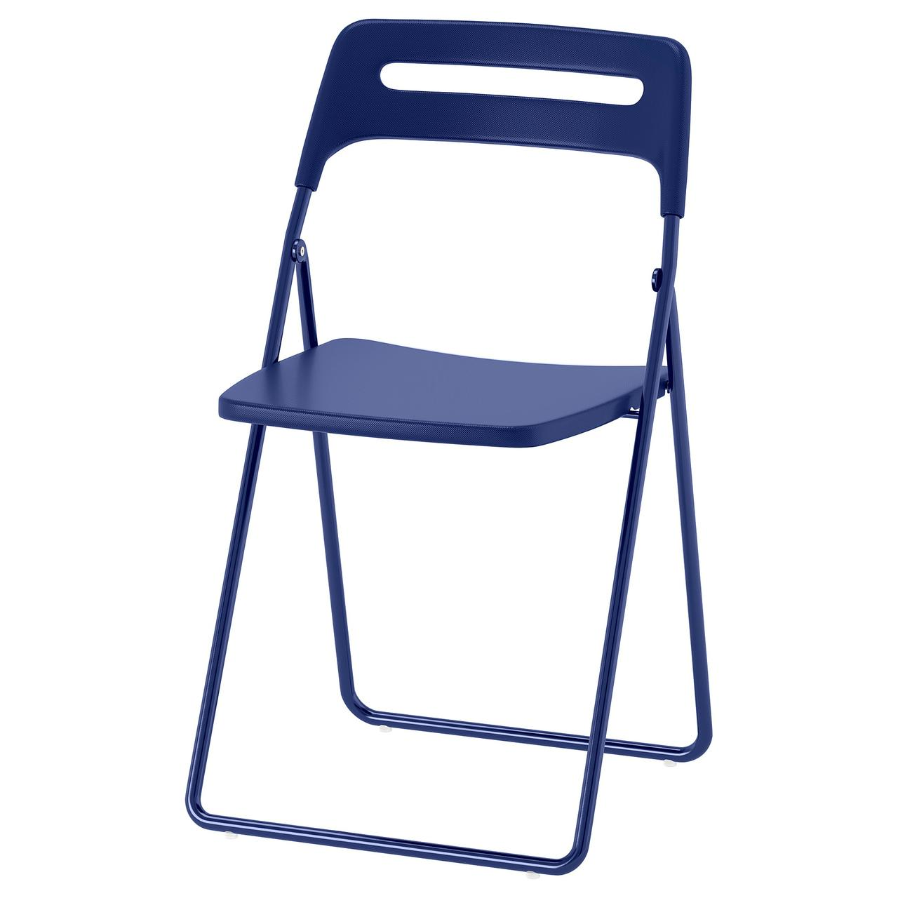 Складное кресло IKEA NISSE темно-синее 904.124.26