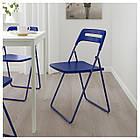 Складное кресло IKEA NISSE темно-синее 904.124.26, фото 2