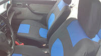 Чехлы сидений Ваз 2108, 2109, 21099 с синими вставками