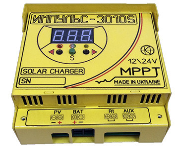MPPT Контроллер заряда солнечной батареи Импульс 30А-12В-AUX 3010S