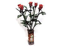 Красная роза, Кожаные Розы, Вечные розы, цветы из натуральной кожи - Подарок на юбилей