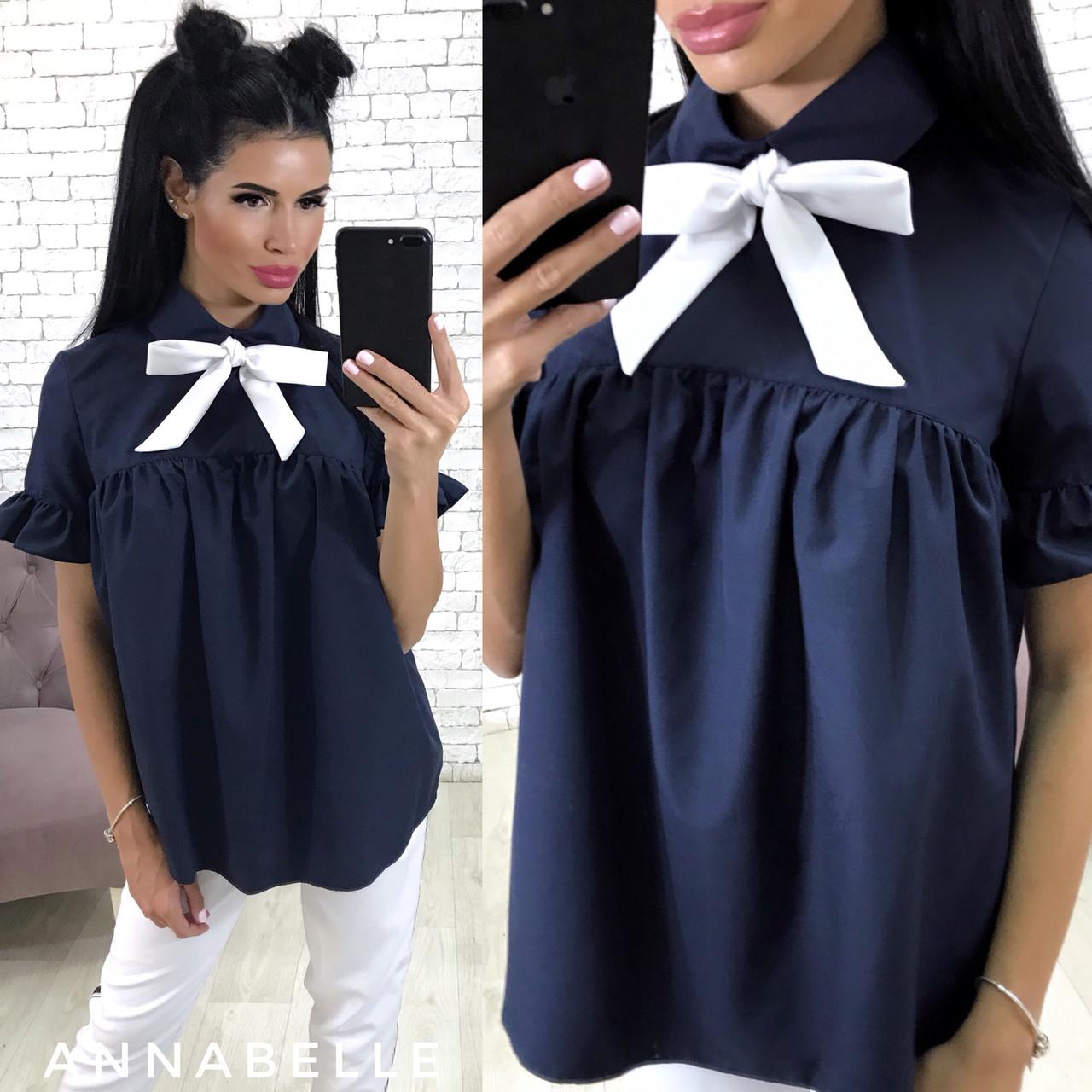 dda120a9d64 Свободная рубашка с бантом в расцветках - Anta - оптовый интернет-магазин в  Одессе