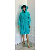 Молодежный махровый халат с принтом Звезды голубой 42-50р, фото 1