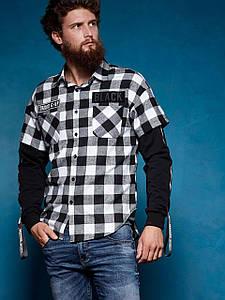 Оригинал Рубашка Мужская Glo-Story SS18 MCS-7459 Белая