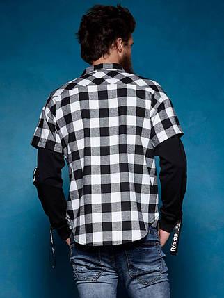 Оригинал Рубашка Мужская Glo-Story SS18 MCS-7459 Белая, фото 2