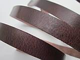 Ременная полоса из кожи растительного дубления 10 мм, толщина 2.8 - 3,0 мм (ИТАЛИЯ) АНТИК - КАШТАН, фото 2