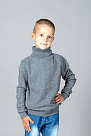 Свитер Many&Many для мальчика, серый, Орнамент.