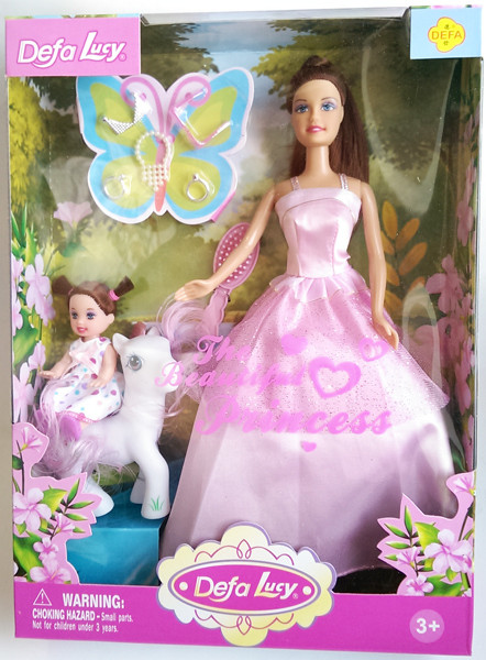 Кукла с дочкой и пони Defa Lucy (8077)