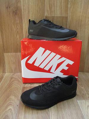 Мужские Кроссовки в стиле Nike Lunar Rider черные плотная сетка