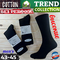 Мужские носки демисезонные Trend Collection Турция без резинки медицинские 43-45р высокие НМД-05854